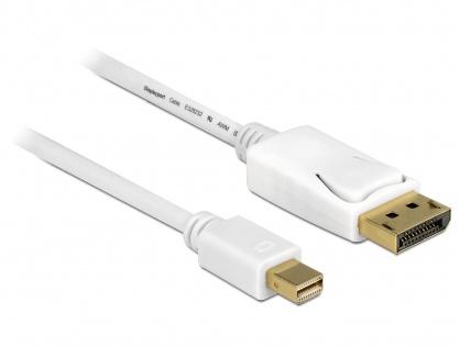 Cablu Mini Displayport la Displayport T-T 4K Alb 5m, Delock 83484