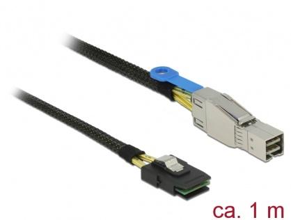 Cablu Mini SAS HD SFF-8644 la Mini SAS SFF-8087 1m, Delock 83616
