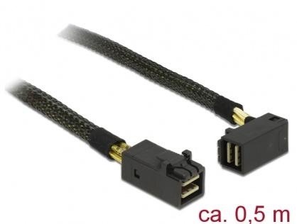 Cablu Mini SAS HD SFF-8643 la Mini SAS HD SFF-8643 unghi  0.5m, Delock 83621
