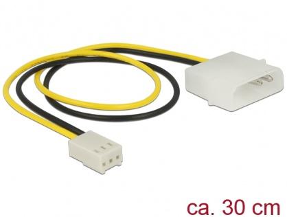 Cablu de alimentare Molex la ventilator 3 pini T-M 30cm, Delock 83659
