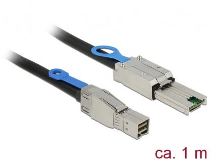 Cablu Mini SAS HD SFF-8644 la Mini SAS SFF-8088 1m, Delock 83734