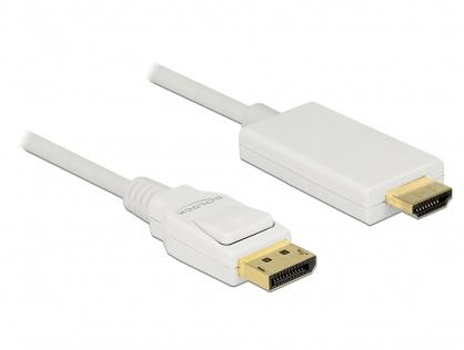 Cablu Displayport 1.2 la HDMI T-T pasiv 4K alb 1m, Delock 83817