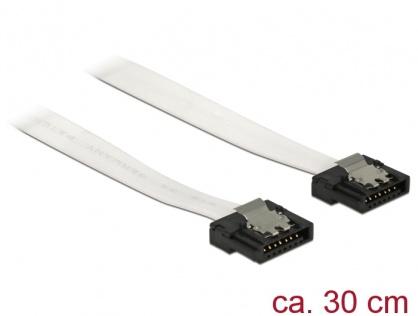 Cablu SATA III FLEXI 6 Gb/s 30 cm white metal, Delock 83831