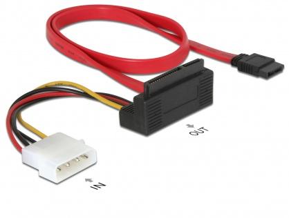 Cablu date + alimentare SATA II 22 pini in unghi, Delock 84307