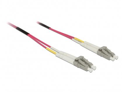 Cablu fibra optica LC- LC Multimode OM4 2m, Delock 84641