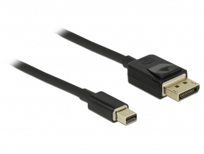 Cablu Mini DisplayPort la DisplayPort 8K 60Hz (certificat DP 8K) T-T 2m Negru, Delock 84928