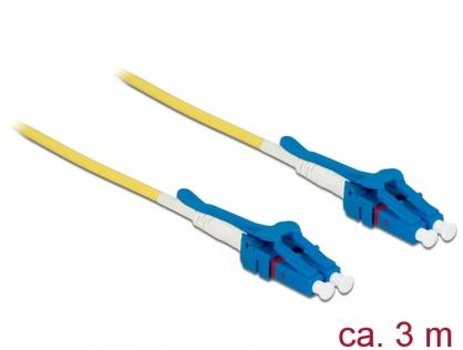 Cablu fibra optica LC - LC Singlemode OS2 Uniboot 5m, Delock 85086