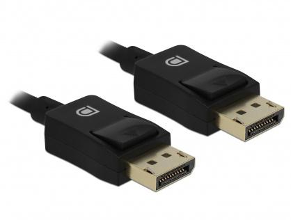 Cablu Displayport coaxial 8K60Hz T-T 1m Negru, Delock 85300