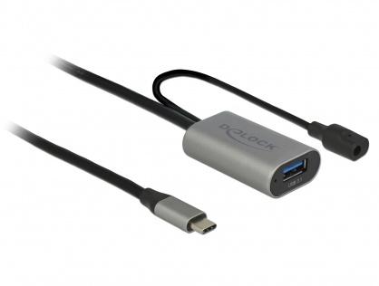 Cablu activ USB 3.1-C Gen 1 la USB-A T-M 5m Negru, Delock 85391