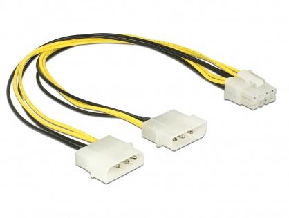 Cablu alimentare EPS 8 pini la 2 x Molex T-T 30cm, Delock 85453