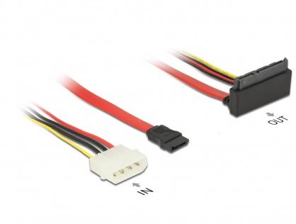 Cablu SATA 6 Gb/s 7 pini + alimentare Molex la SATA 22 pini 30cm, Delock 85514