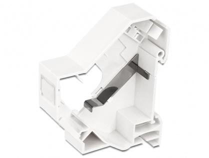 Suport de montare Keystone pentru DIN rail cu impamantare, Delock 86232