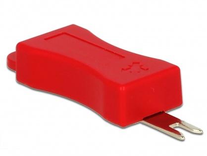 Set 4 buc cheie pentru securizarea mufei RJ45 (86406/86446), Delock 86412