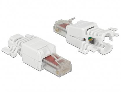 Set 2 bucati conector RJ45 Cat.6 pentru fir solid UTP toolfree, Delock 86416