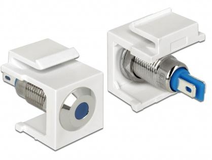 Keystone alb cu LED bleu 6V flat, Delock 86434