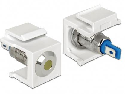 Keystone alb cu LED galben 6V flat, Delock 86436
