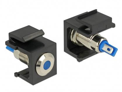 Keystone negru cu LED blue 6V flat, Delock 86461