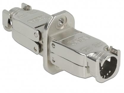Cupla pentru fir solid cat 6A STP M-M toolfree, Delock 86467