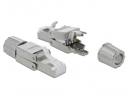 Conector de retea RJ45 cat.6 STP toolfree, Delock 86476