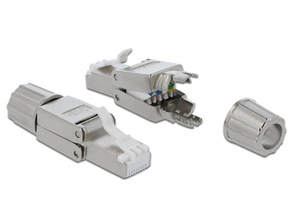 Conector de retea RJ45 cat.6A STP toolfree, Delock 86477