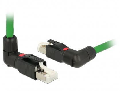 Conector de ansamblat RJ45 cat 5e pentru fir solid unghi, Delock 86495