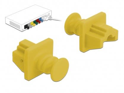 Set 10 buc protectie impotriva prafului pentru RJ45 Galben, Delock 86511