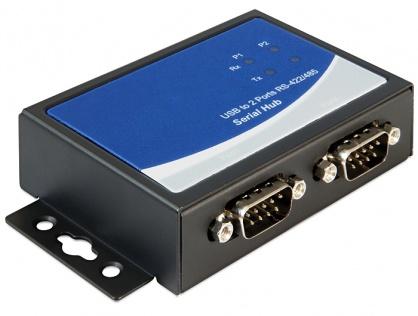 Adaptor USB la 2 x serial RS-422/485, Delock 87586