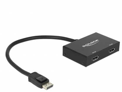 Multiplicator 2 porturi Displayport v1.2 4K, Delock 87665