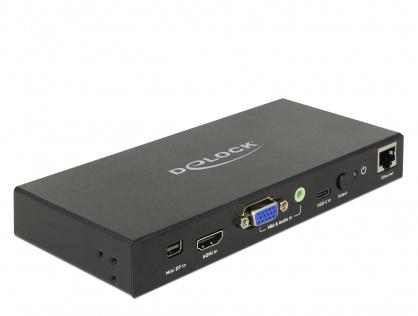 Convertor Multi audio-video (Mini Displayport, HDMI, VGA) la HDMI 4K 60Hz, Delock 87732