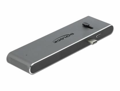 Docking Station Dual USB-C la HDMI 4K@30Hz / USB 3.2 / SD / PD 3.0, Delock 87752