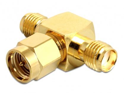 Adaptor in T SMA jack la SMA plug + SMA jack, Delock 88711