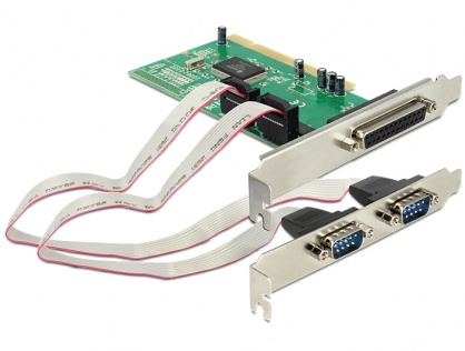 PCI cu 2 x Serial RS232, 1 x paralel DB25, Delock 89004
