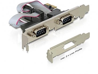 PCI Express la 2 x Serial RS232, Delock 89220