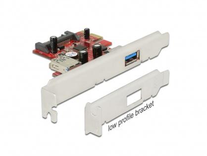 Placa PCI Express la 1 x USB 3.0 extern si 1 x USB 3.0 intern, Delock 89273