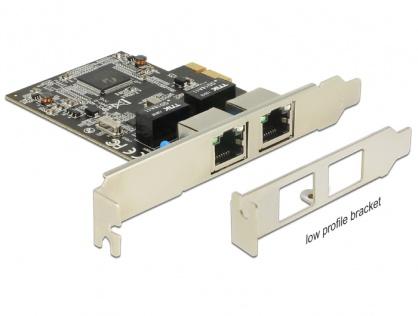 PCI Express cu 2 x Gigabit LAN, Delock 89346