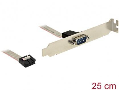 Bracket cu 1 x Serial nullmodem 9 Pini, Delock 89353