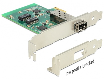 PCI Express Card cu 1 x SFP Slot Gigabit LAN, Delock 89368