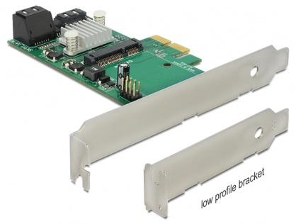 PCI Express cu 3x SATA 6 Gb/s  Hybrid + 1x mSATA, Delock 89371