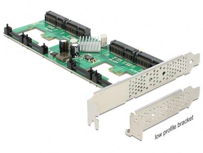 PCI Express Card cu 4 porturi mSATA cu RAID, Delock 89373