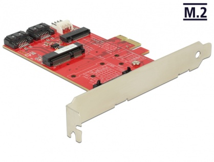 PCI Express cu 1 x M.2 NGFF, 1 x mSATA, 1 x Mini PCIe, Delock 89380