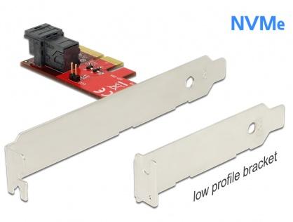 PCI Express cu 1 port SFF-8643 NVMe LPFF, Delock 89535