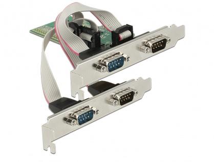 PCI Express la 4 x Serial RS-232, Delock 89557