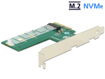 PCI Express la 1 x NVMe M.2 Key M cross format, Delock 89561