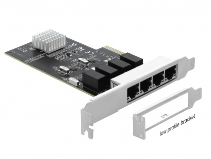 PCI Express la 4 x Gigabit LAN, Delock 89567