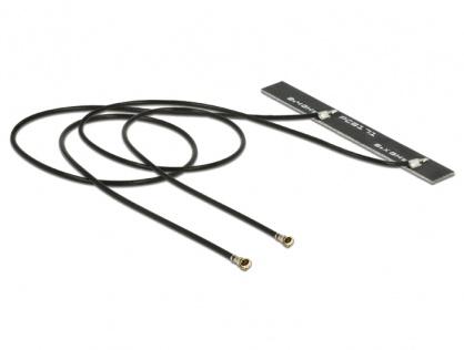 Antena WLAN Twin 2 x MHF IV / HSC MXHP32 802.11 ac/a/h/b/g/n 5 dBi, Delock 89571