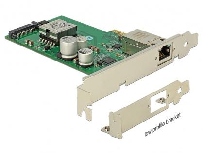 PCI Express cu 1 port Gigabit LAN PoE+ RJ45, Delock 89594