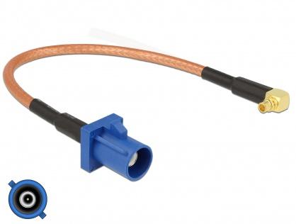 Cablu antena FAKRA C plug la MMCX 90° plug RG-316 15 cm, Delock 89668