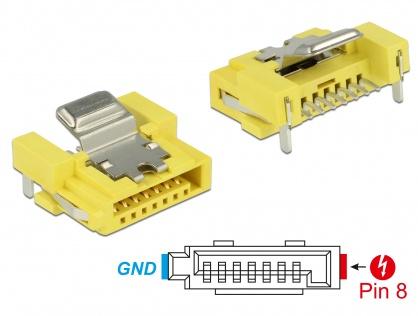 Conector de alimentare SATA 6 Gb/s 8 pini mama, Delock 89887