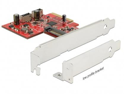 PCI Express la 2 x USB 3.1 Gen 2 key A 20 pini, Delock 89906