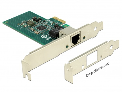 PCI Express la 1 x Gigabit LAN chipset Intel i210, Delock 89942
